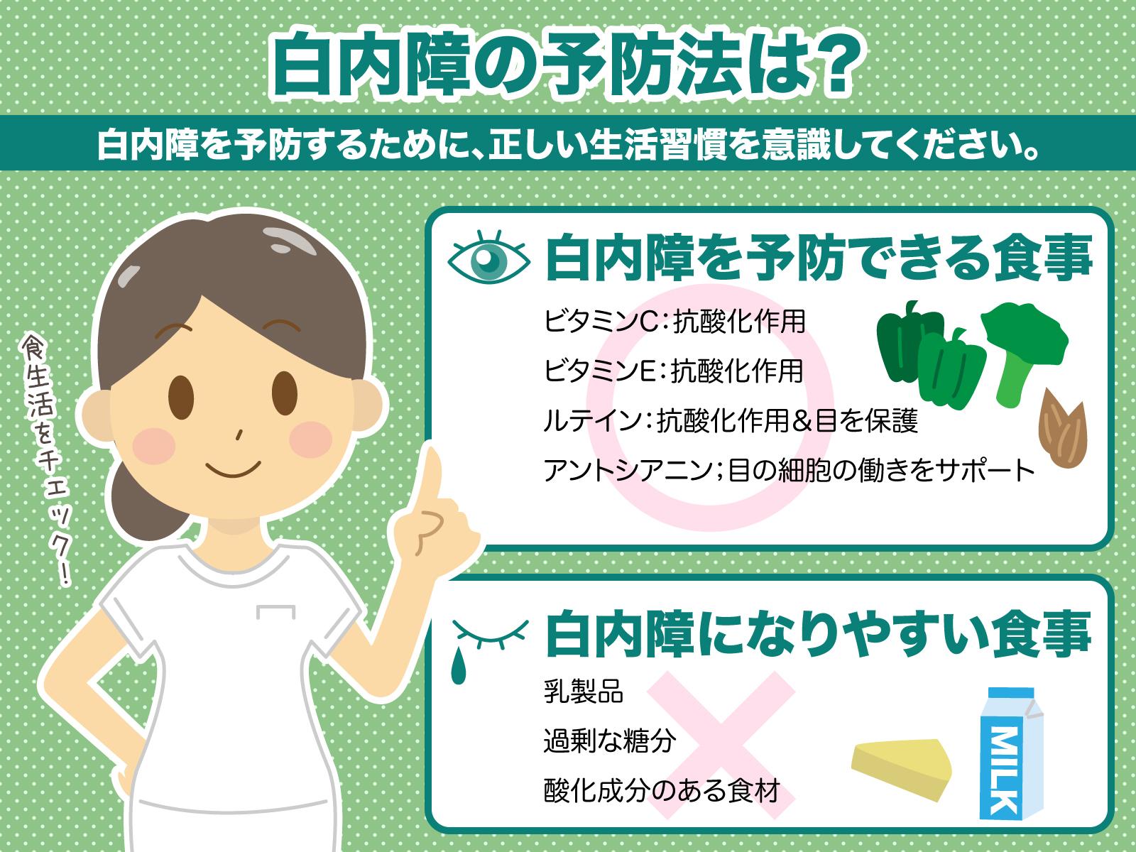 白内障の予防法